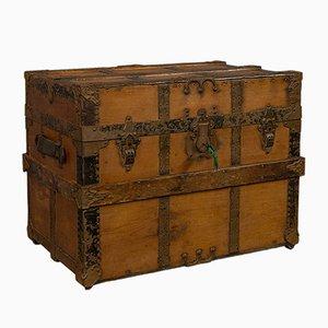 Antike amerikanische Reisetruhe