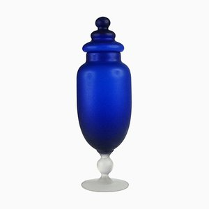 Italian Glass Container by Carlo Moretti, 1970s
