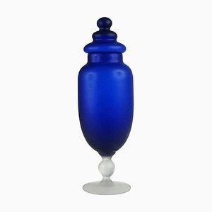 Italienischer Glas Behälter von Carlo Moretti, 1970er