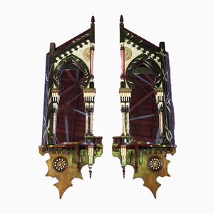 Antike Spiegel von Carlo Bugatti, 2er Set