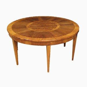 Mesa de centro italiana de madera con incrustaciones, años 50