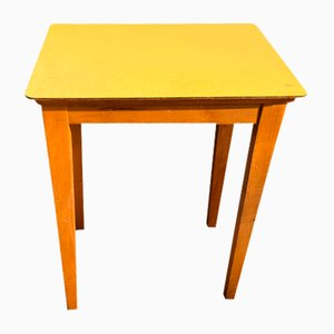 Mid-Century Wooden & Formica Side Table