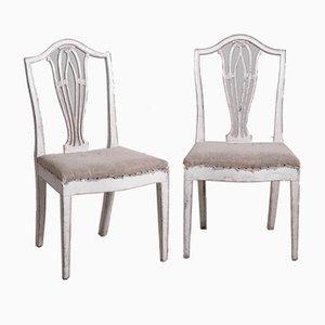 Antike gustavianische Esszimmerstühle, 14er Set