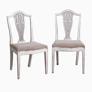 Antique Gustavian Dining Chairs, Set of 14