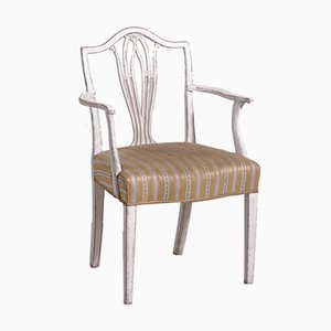 Antique Gustavian Style Carved Armchair