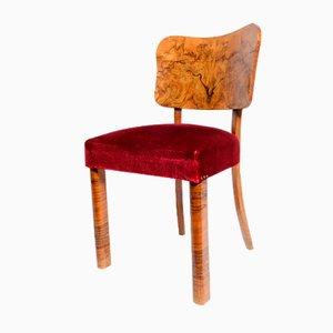 Vintage Art Déco Esszimmerstühle, 4er Set