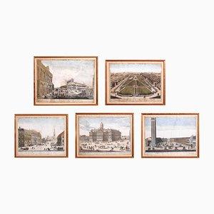 Kupferstiche, 17. Jh., 5er Set