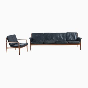 Mid-Century 4-Seater Sofa Set by Grete Jalk for France & Søn / France & Daverkosen
