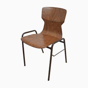 Chaise de Salle à Manger Empilable Vintage Industrielle Marron de Eromes