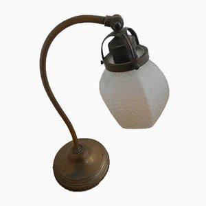 Lámpara de mesa italiana de latón, años 20