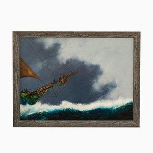 Großes Meerlandschaft Ölgemälde von David Chambers, 2000er