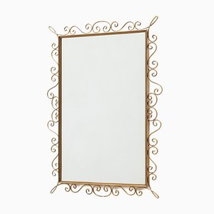 French Brass Mirror, 1960s