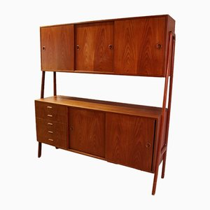 Vintage Danish Teak Highboard from Gunni Omann, 1960s