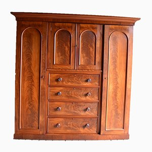 Antique English Mahogany Wardrobe