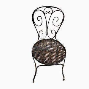 Silla francesa vintage de hierro