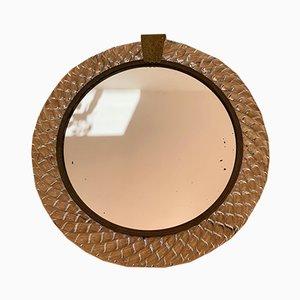Espejo italiano de cristal de Murano de Barovier & Toso, años 60