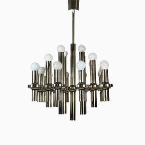 Large Chromium Chandelier from Staff, 1970s
