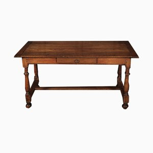 Antique French Solid Oak Writing Table