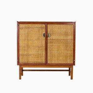 Schrank aus Mahagoni & Rattan von Westbergs Möbler, 1950er