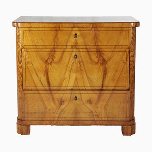 Biedermeier Ash Veneer Chest of Drawers, 1830s