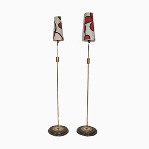 Lámparas de pie, años 60. Juego de 2