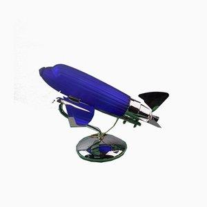 Lámpara de avión Art Déco de Sarsaparilla Deco Designs, 1978