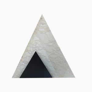 Lámpara de mesa triangular de vidrio, años 60