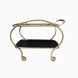 Mid-Century Brass and Glass Trolley