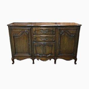 Mid-Century Louis XV Style Oak Sideboard, 1950s