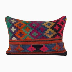 Geometrical Lumbar Kilim Cushion Cover