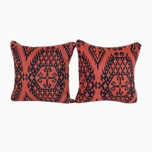 Handgefertigte türkische Kelim Kissenbezüge, 2er Set