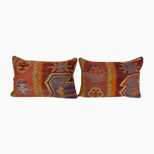 Embroidered Kilim Cushion Cover, Set of 2