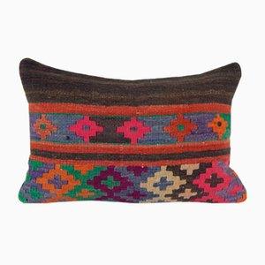 Dekorativer traditioneller türkischer Kelim Kissenbezug