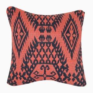 Türkischer Kelim Kissenbezug mit geometrischem Muster