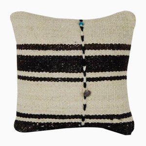 Turkish White Hemp Lumbar Cushion Cover
