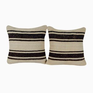 Handmade Kilim Rug Hemp Cushion Covers, Set of 2