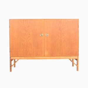 Mid-Century Danish Oak and Brass Dresser by Børge Mogensen for FDB, 1950s
