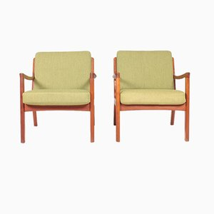Mid-Century Danish Lounge Chairs by Ole Wanscher for France & Søn / France & Daverkosen, 1960s, Set of 2