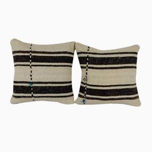 Organic Hemp Kilim Cushion Covers, Set of 2