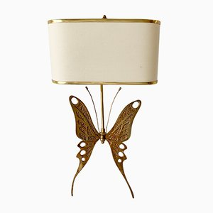 Mid-Century Brass Butterfly Sconce