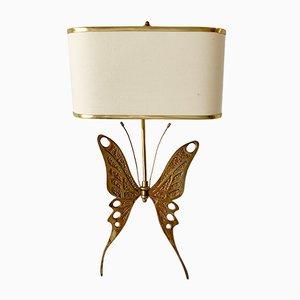 Mid-Century Butterfly Wandleuchte aus Messing