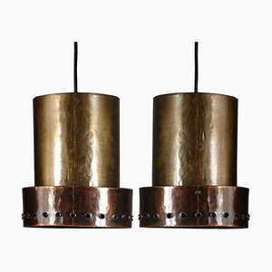 Brutalist Danish Ceiling Lamps, 1960s, Set of 2