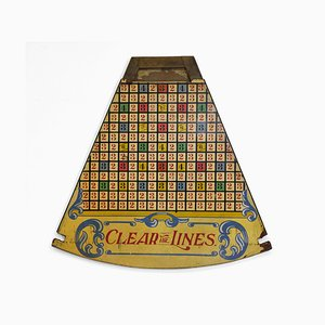 Clear the Lines Segment Fairground Game, 1960s