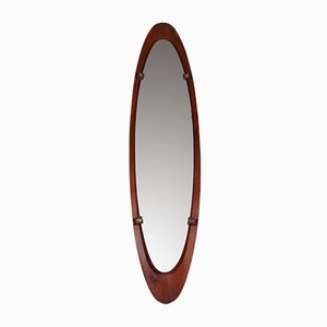 Large Italian Teak Mirror from Mobili Polli, 1960s