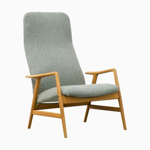 Mid-Century Model Kontour Reclining Lounge Chair by Alf Svensson for Ljungs industrier