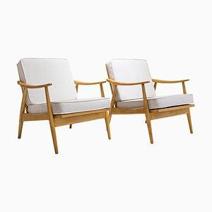 German Beech Armchairs from Bergmann, 1950s, Set of 2