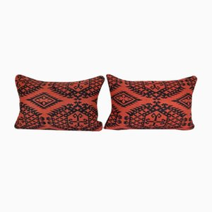 Vintage Wool Tribal Cushion Covers, Set of 2