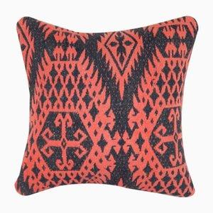 Kelim Kissenbezug aus Wolle mit geometrischem Muster