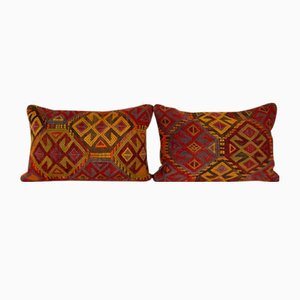 Lumbar Kilim Cushion Covers, Set of 2
