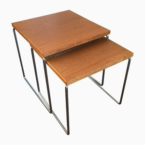 Teak and Steel Nesting Tables from Brabantia, 1960s